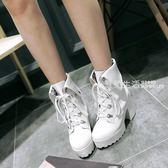 馬丁靴 日系洛麗塔馬丁靴 高跟鞋粗跟短靴休閒Cosplay女王蘿莉動漫展女鞋·夏茉生活