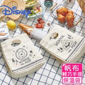 【Disney 迪士尼】野餐維尼手提保冷保溫帆布袋(2款可選)森林款