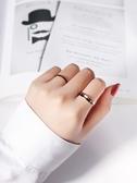 戒指Minimlist網紅極簡約鈦鋼黑色素圈細食尾女男戒指環時尚個性ins風 交換禮物