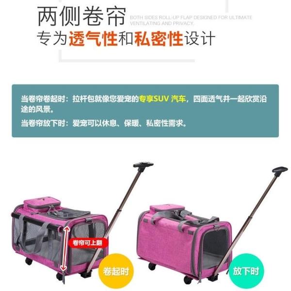 寵物包外出便攜狗包貓包狗狗拉桿箱車載透氣可折疊四季通用旅行包