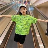 女童短袖T恤 夏裝女童t恤2020新款童裝中大童洋氣薄款短袖體恤兒童網紅半袖潮