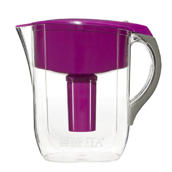 [106美國直購] Brita 10 Cup Grand BPA Free Water Pitcher with 1 Filter, Violet