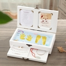 兒童手腳印乳芽換芽收藏紀念盒子胎發臍帶寶...