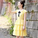 少女學院風蛋糕連身裙裝娃娃領 衣普菈