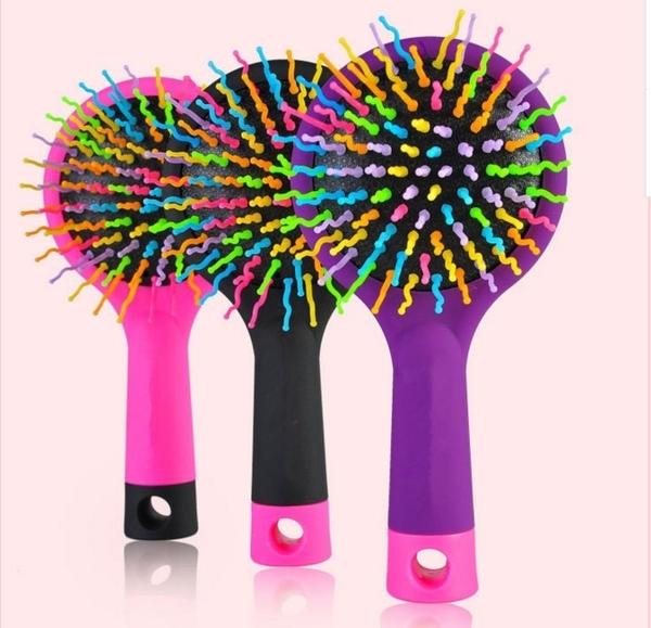 梳子【FMD057】韓國彩虹美髮梳 梳子 滑順 假髮 美髮 面膜 DIY 美容 套裝 123ok