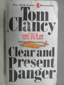 【書寶二手書T7/原文小說_MRX】Clear and Present Danger_Tom Clancy