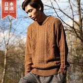 毛衣 圓領麻花針織衫 20色 S-M