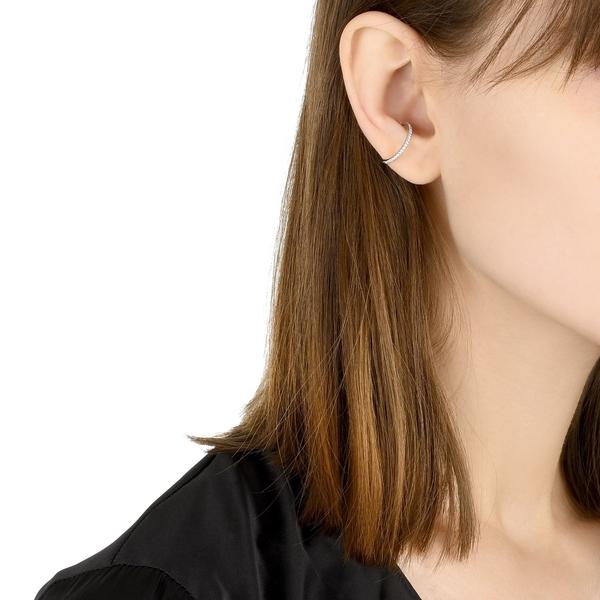 點睛品 Ear Play 18K鑽石開口式單邊耳環