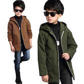 男童呢子大衣中長款正韓保暖加厚毛呢外套兒童男秋冬款童裝上衣 優樂居