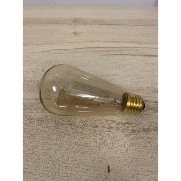 愛迪生燈泡鎢絲燈泡創意工業風E27燈座復古暖光電燈泡(777-10852)