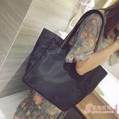 大包歐美時尚牛津布手提女包夏季新品鍊條編織肩背包側背包 中元節禮物