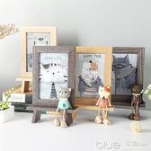 創意相框個性復古木質6寸擺台可愛ins相架擺件鐵藝畫框水培簡約  YYJ深藏blue