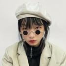 買一送一超小框圓形復古墨鏡男女款迷你小圓框太子鏡漢奸眼鏡嘻哈太陽鏡 魔法鞋櫃