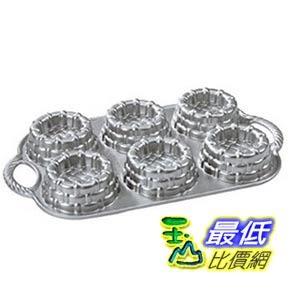 [美國直購]  Nordic Ware Cast-Aluminum Nonstick Baking Pan, Shortcake Baskets 蛋糕模具