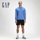 Gap男裝 運動鬆緊直筒短褲 689825-黑色