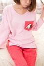 俏麗奧莉維 厚棉兩件式睡衣(粉色) 居家服