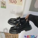 皮鞋 2021秋季新款網紅英倫風軟底樂福鞋女單鞋厚底鬆糕小皮鞋黑色鞋子 618狂歡