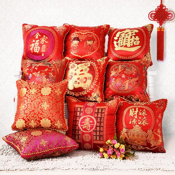 (低價促銷)方形小抱枕保暖喜慶中式抱枕被子兩用大號辦公室腰墊 汽車靠枕