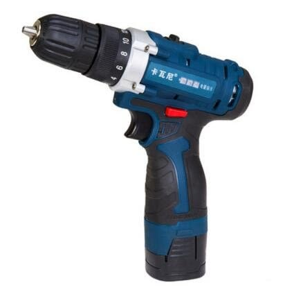 食尚玩家 K258電鑽充電鑽手鑽鋰電鑽家用電動螺絲刀 12v(塑盒)1電池 鑽頭