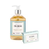 Fer à Cheval 法拉夏 香氛沐浴入門組【BG Shop】香氛皂液500ml+香氛馬賽皂