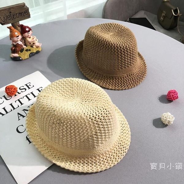 兒童帽子 夏季薄款男童太陽帽韓版禮帽透氣網眼防帽寶寶遮陽帽潮【月光節全館八五折】