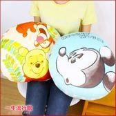 《最後2個》迪士尼 米奇小熊維尼 跳跳虎 正版 彈力 絨毛 大圓型 午睡枕頭 抱枕 靠枕 禮物 B16306