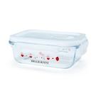 【震撼精品百貨】Hello Kitty 凱蒂貓~三麗鷗SANRIO~耐熱玻璃密封盒--草莓*37132