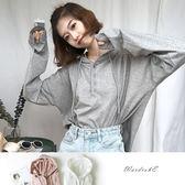 寬鬆素色連帽休閒T-Shirt / 衣櫃控-WardrobE / EA6789