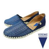 【VERBENAS】CARMEN卡門編織皮革面草編鞋/休閒鞋 海軍藍(030058-NA)