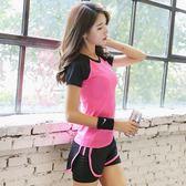 618好康又一發瑜伽服女健身房日韓跑步運動三件套晨跑短褲套裝大尺碼寬鬆速乾