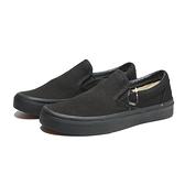 VANS 休閒鞋SLIP-ON 全黑 懶人鞋 延續款 男女 (布魯克林) VN000EYEBKA