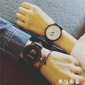 原宿個性復古簡約韓版潮流創意手錶情侶一對男女學生bf風 ulzzang 摩可美家