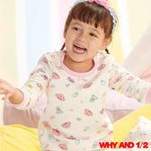 WHY AND 1/2 女童家居服 普普熊菱格棉質T恤 11Y-14Y