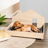 原木寵物造型床組-開放式M