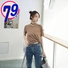 【8001】舒適百搭素色彈力短袖T恤 (...