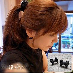 ☆* 魔衣子 *☆【Q80A81】蝴蝶結造型假鑲鑽個性耳環