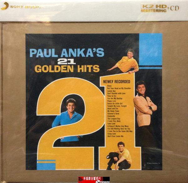 【停看聽音響唱片】【K2HD】PAUL ANKA'S 21 GOLDEN HITS
