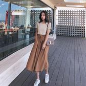 VK旗艦店 韓系時尚修身上衣寬鬆寬口褲套裝短袖褲裝