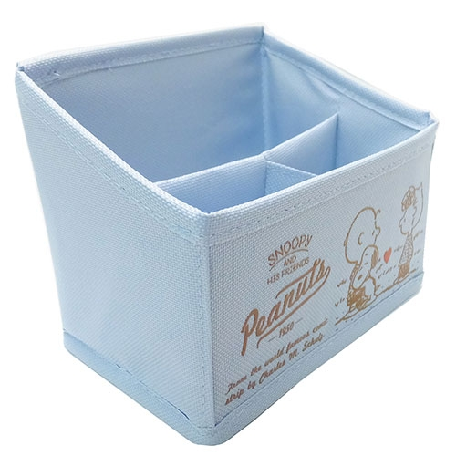 SNOOPY桌上型多格置物收納籃S(丹寧藍)funboxT'S FACTORY_CY06338