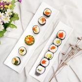 日式壽司盤子創意陶瓷簡約純白色陶瓷長方盤