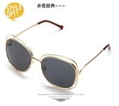 新款chloe同款 克羅依同款 金屬裸空 【B022】圓圈太陽眼鏡 大框顯瘦墨鏡 抗UV400