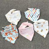 嬰兒圍頭 寶寶口水巾三角巾棉質嬰兒圍嘴雙層按扣新生兒童頭巾圍巾圍兜春秋嬰兒圍頭