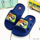 童鞋城堡- 男童拖鞋 輕量拖 Tomica多美汽車 TM0837 藍