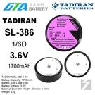 【久大電池】 TADIRAN SL-386 SL386 3.6V 1/6D 1.7Ah 一次性鋰電 【工控電池】TA10