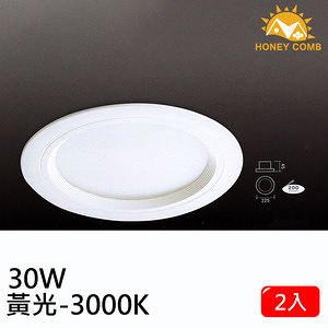 HONEY COMB 大尺寸LED 30W 崁燈 單入TK0434-30-3 黃光