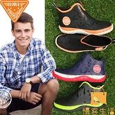 雨鞋男士水鞋雨靴男款防滑防水鞋低幫短筒套鞋膠鞋水靴男【慢客生活】