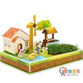 兒童3d拼圖立體拼圖模型diy玩具親子小農場女孩益智男3-6-7-10歲