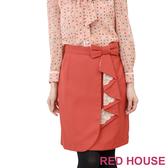 RED HOUSE-蕾赫斯-蝴蝶結蕾絲短裙(共二色)