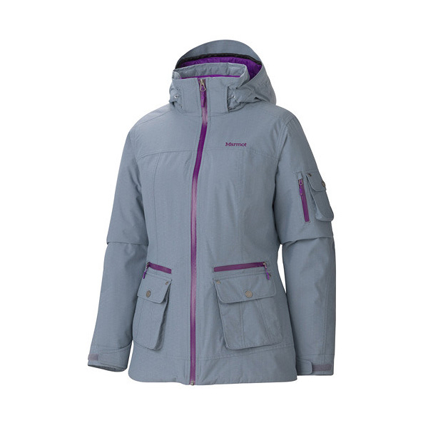 [Marmot] Slopeside (女) 防水透氣雪衣 灰 (M75560-1300)