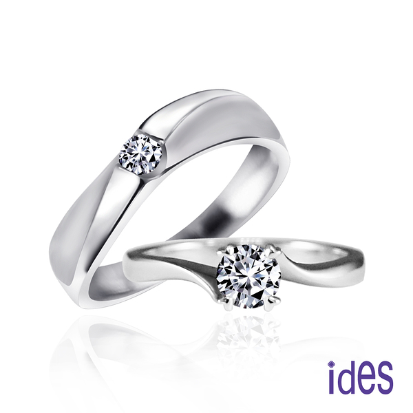 ides 愛蒂思 幸福圍繞。30分與10分E/VS1八心八箭完美3EX車工鑽石對戒/求婚結婚戒